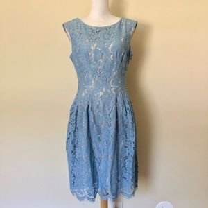 Vince Camuto Blue Lace Fit & Flare Dress